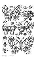 Шаблоны  для  айсинга и шоколада эскизы бабочки ажурные