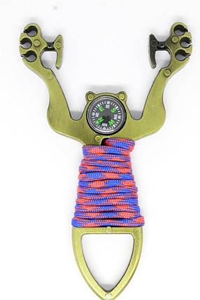 Рогатка з вбудованим компасом До 14 ,Дуже потужний ,чудовий подарунок,Нержавіюча сталь, фото 2