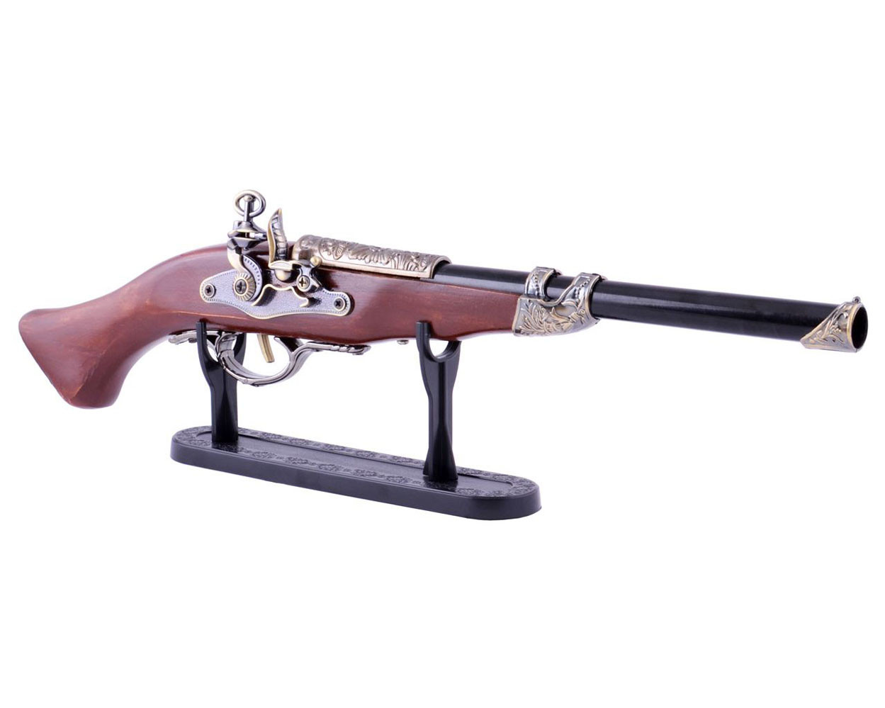 Сувенирная зажигалка мушкет 4419 на подставке