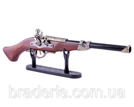Сувенирная зажигалка мушкет 4419 на подставке, фото 2