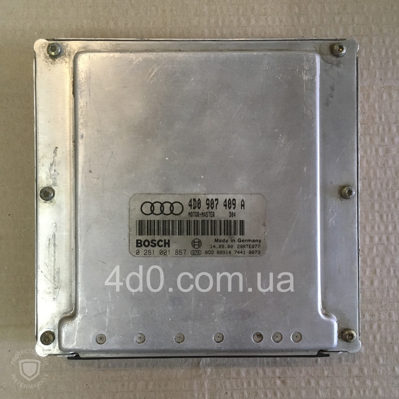 4D0907409A Блок управління двигуном на Audi A8 D2 3.3 дизель