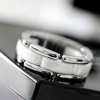 Кольцо женское в стиле Chanel (керамика + сталь)