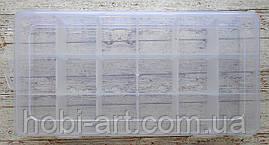 Органайзер пластиковий №05, 23х12х4см. 18 комірок