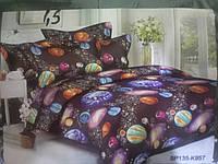 Стильное постельное белье космос Бязь голд Размер евро