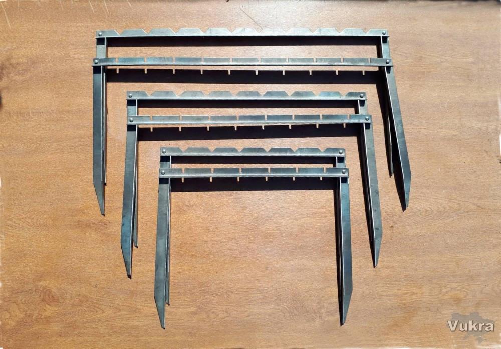 Мангал турста подставка для шампуров толщина 2 мм раскладной складной Харьков