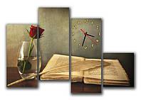 Часы модульные настенные, фотопечать 30х62 30х70 30х75 30х33 см / cl - М 54