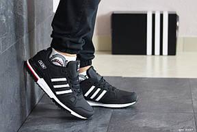 Мужские кроссовки Adidas ZX 750,черно белые, фото 2