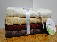 Набор полотенца банные (лицо, сауна) Cestepe seramik 4шт. bamboo бамбук махра Турция