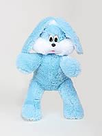 """Мягкая игрушка зайчишка """" снежок"""" голубого цвета, высота 100 см"""
