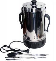 Электрошашлычница Помощница с таймером на 6 шампуров (нержавеющая сталь), фото 1