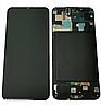 Дисплей (екран) для Samsung A505F Galaxy A50 2019 + тачскрін, чорний, з передньою панеллю, оригінал