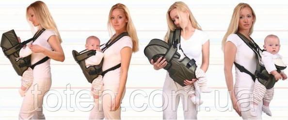 Рюкзак переноска кенгуру, 3 положення, від 2 місяців до 13 кг, для немовлят Умка асортимент кольорів
