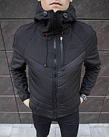 "Куртка мужская Pobedov Jacket ""Soft Shell combi V2"" Black"