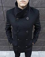 """Мужское двубортное пальто из кашемира Pobedov Coat """"V Teatr"""" Black"""