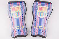 Щитки футбольные Барселона на резинках, фото 1