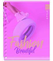 Тетрадь на спирали A5 144 листа Yes пластиковая обложка FASHION BEAUTY 681451