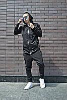 Мужской стильный костюм, черный