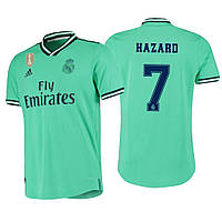 Футбольная форма Реал Мадрид Азар (Real Madrid Hazard) 2019-2020 Гостевая Бирюзовая, фото 1
