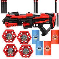 """Детский пистолет с мягкими пулями, """"Стрелковый тир №2"""", QUNXING Toys"""