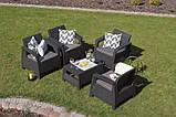 Keter Corfu Quattro Set садовая мебель из искусственного ротанга, фото 3