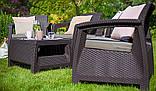 Keter Corfu Quattro Set садовая мебель из искусственного ротанга, фото 5