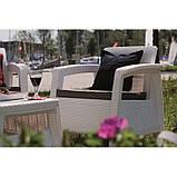 Keter Corfu Quattro Set садовая мебель из искусственного ротанга, фото 7