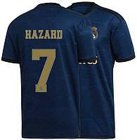 Футбольная форма Реал Мадрид Азар (Real Madrid Hazard) 2019-2020 Выездная Синяя, фото 1