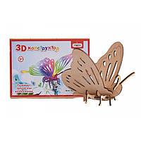 Деревянный 3D конструктор Strateg Бабочка 605 (34356)