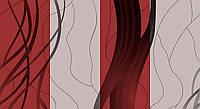 Обои влагостойкие мойка Стрим 140-05 серо-красный