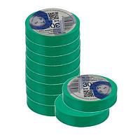 Ізоляційна стрічка ТАКЕЛ 0,13мм  х 19мм х 30м, колір зелений