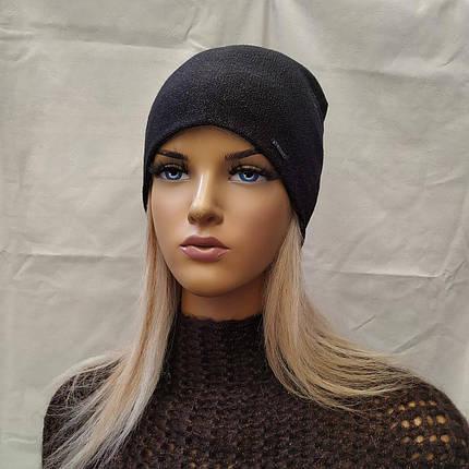 Молодежная шапка с  ЛЮРЕКСОМ Джаннет ODYSSEY 45017 черный, фото 2