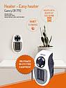 Портативный мини обогреватель Camry CR 7712 - Easy heater тепловентилятор в розетку макс мощность 700вт, фото 6