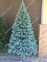 Лита ялинка Буковельська 2.10 м. блакитна // Штучна пластикова ялинка / Литая елка, фото 2