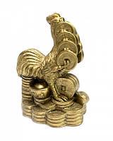 9260214 Петух с вязкой монет в клюве под бронзу