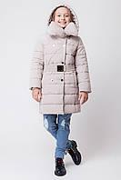 Зимняя куртка для девочки ZKD-2 бежевая