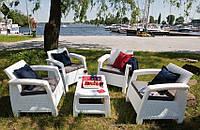 Curver Corfu Quattro Set садовая мебель из искусственного ротанга, фото 1