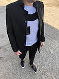 😜 Пальто - Мужское  черное пальто, фото 2
