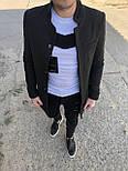 😜 Пальто - Мужское  черное пальто, фото 4