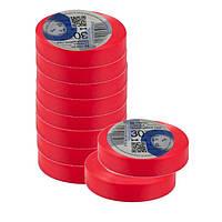 Ізоляційна стрічка ТАКЕЛ 0,13мм  х 19мм х 30м, колір червоний