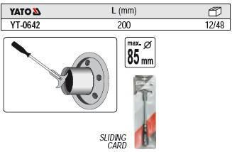 Съемник уплотняющих колец (сальников и прокладок) YATO YT-0642, фото 2