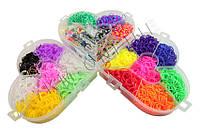 Набор для плетения Rainbow Loom Bands 6000 резиночек