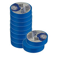 Ізоляційна стрічка ТАКЕЛ 0,13мм  х 19мм х 30м, колір блакитний
