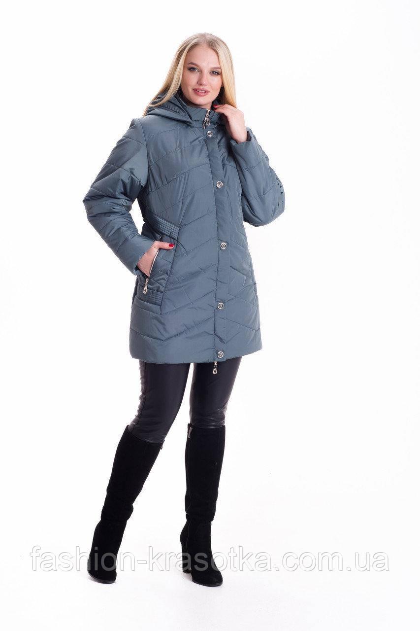 Женская демисезонная куртка больших размеров:56-70.