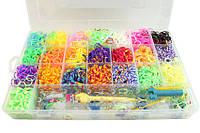 Набор для плетения Rainbow Loom Bands 6200 резиночек