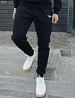 Спортивные штаны тёплые Staff logo black fleece мужские