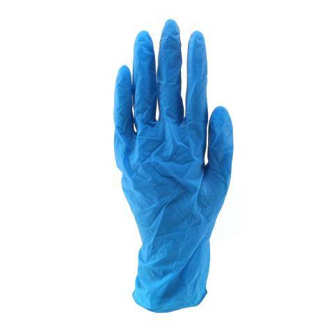 Перчатки латекс голубые S 100 шт