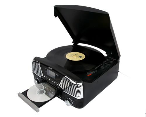 Музыкальный проигрыватель-грамофон Camry CR 1134 b - ГРАМПЛАСТИНКИ /CD /MP3 / USB/ SD