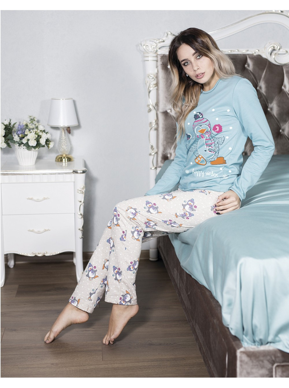 Трикотажная пижама женская