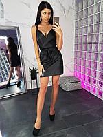 Сексуальное кожаное платье (цвет - черный, ткань - эко кожа) Размер S, M, L (розница и опт)