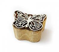 9160000 Штамп для батика из красного дерева малая Бабочка